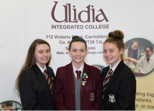 Erin with her sisters and fellow Ulidia pupils Enya (left) and Anna (middle)