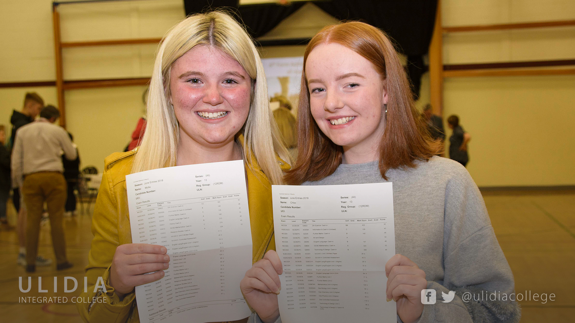 Outstanding 2018 GCSE Results - Ulidia Integrated College