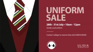 Gently-used Uniform Sale